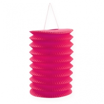 Lampion accordéon fuchsia Ø 10 cm H. 13 cm 8 p.