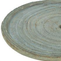 Assiette déco bois de paulownia Ø22cm