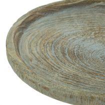 Assiette déco bois de paulownia Ø26cm