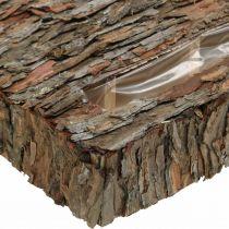 Bac à plantes écorce de pin sous-couche décoration automne 35 × 25cm H6cm