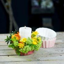 Cache-pot, moule à cake pour la plantation, pot en céramique H5cm Ø12.5cm 3pcs