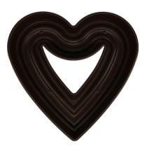 """Coeur végétal """"Amora"""" 45cm marron, 1p"""