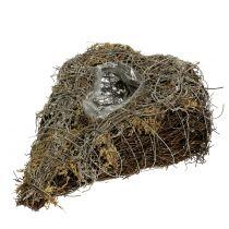 Cœur à garnir en sarments de vigne et lichen naturel 25 x 19 cm