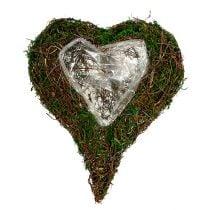 Coeur végétal comme base d'arrangement 30x35cm H8cm