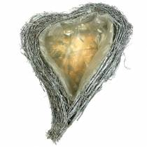 Plante coeur branches blanchies à la chaux 40cm x 30cm