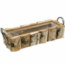Jardinière en bouleau avec poignées 40 × 1513cm déco bois de bouleau