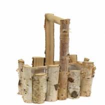 Panier de plantation de branches de bouleau avec poignée 24x14.5cm H25.5cm