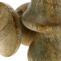 Champignon manguier bois naturel champignon décoration automne Ø5cm H7.5cm 6pcs