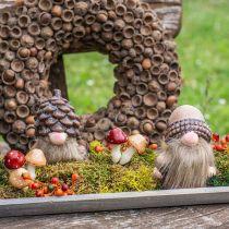 Champignons assortis 3cm x 5cm sur fil 48pcs