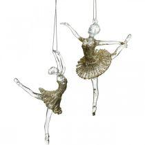 Cintre déco danseuse, décorations de sapin, ballerine à accrocher H14 / 13cm 2pcs