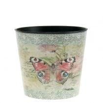 Pot de décoration vintage papillon Ø 10,5 cm