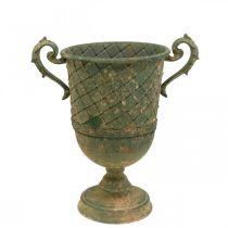 Pot à fleurs, gobelet décoratif, amphore à planter Ø18,5cm H31,5cm