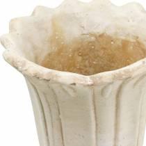 Amphore décorative, gobelet à planter, gobelet pot de plantation tulipe Ø12cm H25,5cm 2pcs