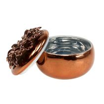 Boîte en porcelaine cuivre Ø 7,5 cm H.6 cm
