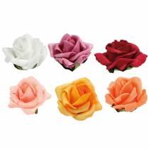 Foam-Rose Ø4,5cm différentes couleurs 36pcs
