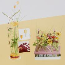 Assiette en mousse florale rouge 3pcs