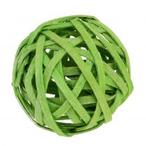 Boule de rotin vert printanier Ø 4 cm 12 p.