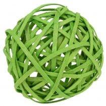 Boule de rotin vert clair Ø 6 cm 6 p.