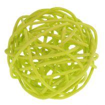 Assortiment de balles en rotin Ø 5 cm vert clair, vert pâle, blanc 30 p.