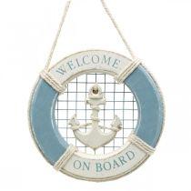 Décoration maritime, bouée de sauvetage avec ancre, décoration anneau de natation Ø14cm