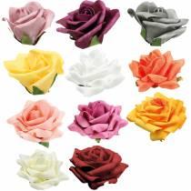 Mousse Rose Ø10cm différentes couleurs 8pcs