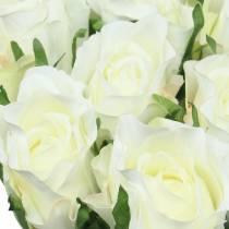 Rose blanche 42cm 12pcs