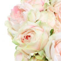 Chapelet Crème / Rose Ø30cm