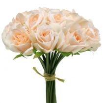 Bouquet de roses couleur pêche 26 cm de Ø