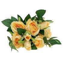 Bouquet de roses en crème L46cm