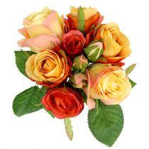 Bouquet de roses oranges Ø17cm L25cm