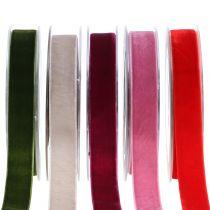 Ruban de velours coloris au choix 20 mm 10 m