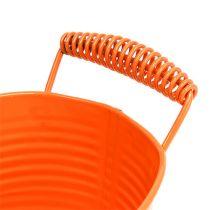 Bol ovale orange 20cm x 12cm H9cm