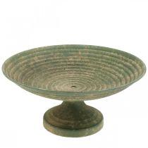 Bol avec pied, bol décoratif, récipient en métal, aspect antique, Ø26cm H12cm