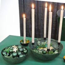 Bol décoratif en métal vert décoration de table Vintage Ø21cm
