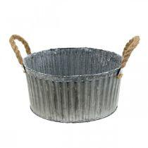 Bol décoratif, jardinière avec poignées, bol à fleurs à planter Ø25cm
