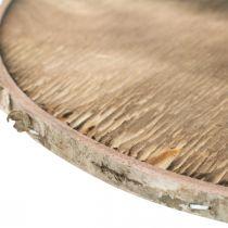 Disque décoratif en bois flammé Contreplaqué de décoration en bois rustique Ø20cm