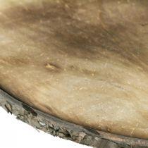 Disque de bois décoratif sous-verre flammé contreplaqué rustique Ø25cm