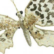 Papillon à pincer, décoration d'arbre, Avent, décoration de mariage, clip de décoration L16cm W13cm