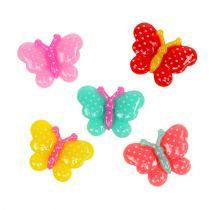 Papillons miniatures 2 cm multicolores 24 p.