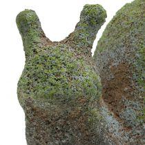 Escargot décoratif moussu 30 x 18 cm H. 15 cm