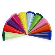 Mini pochettes à friandises colorées 12 cm 10 p.