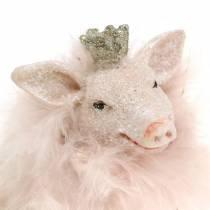 Figurine de décoration Cochon porte-bonheur 9cm 2pcs