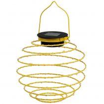 Lampe de jardin solaire jaune 22 cm avec 25 LED blanc chaud