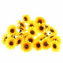 Décor épars têtes de tournesol jaune Ø3.3cm 100p