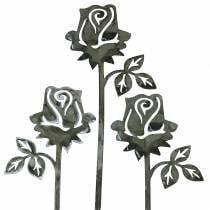 Bouchon en métal rose gris argenté, métal lavé blanc 20cm × 8cm 12pcs