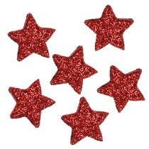 Star scintillant 1,5cm pour étendre 144pcs rouge