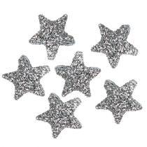 Étoile scintillante 1,5cm à saupoudrer 144pcs d'argent