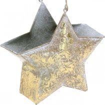 Etoile décorative en métal à suspendre et à décorer Doré Ø13cm