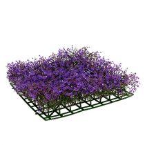 Tapis fleur étoiles 25cm x 25cm violet