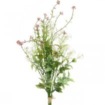 Bouquet de printemps artificiel rose, blanc, vert Bouquet artificiel H43cm
